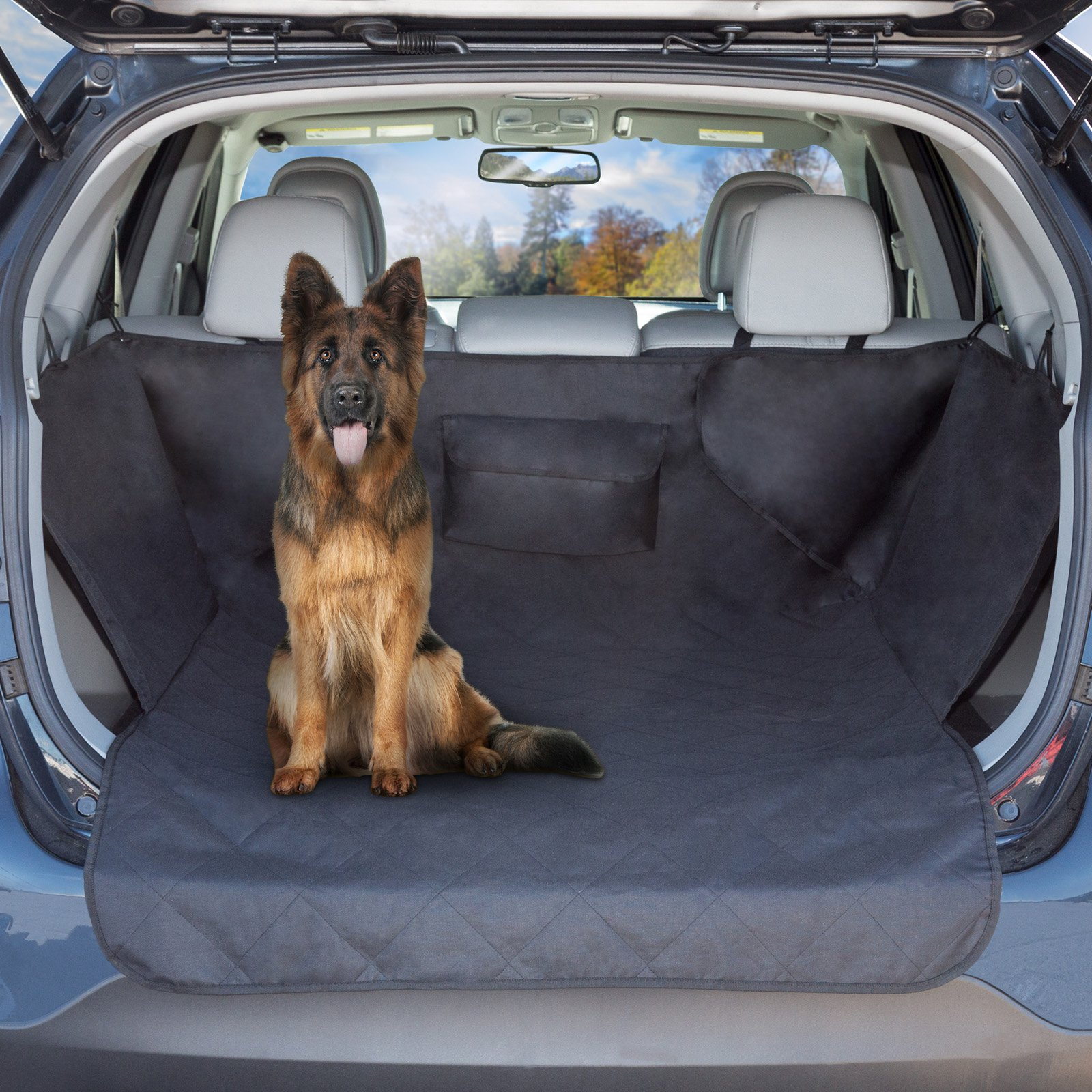 Petmaker All-Weather Waterproof Cargo Liner Dog Seat Cover with Side Flaps