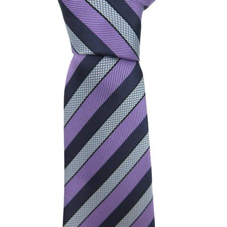 0f3370f7 Ermenegildo Zegna Purple Striped Silk Tie