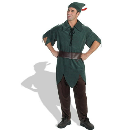 Peter pan classic adult halloween costume One Size](Plus Size Peter Pan Costume)