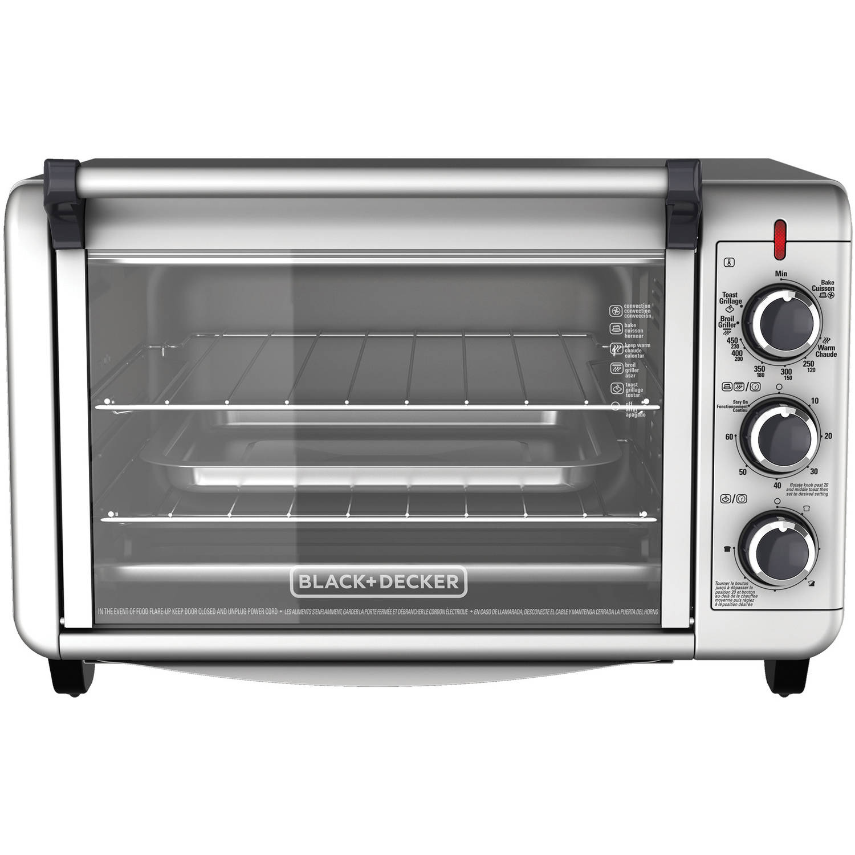 BLACK+DECKER 6-Slice Convection Countertop Toaster Oven, Silver, TO3000G