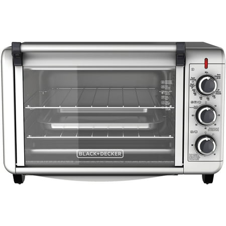 Countertop Convection Oven Toaster : ... +DECKER 6-Slice Convection Countertop Toaster Oven, Silver, TO3000G