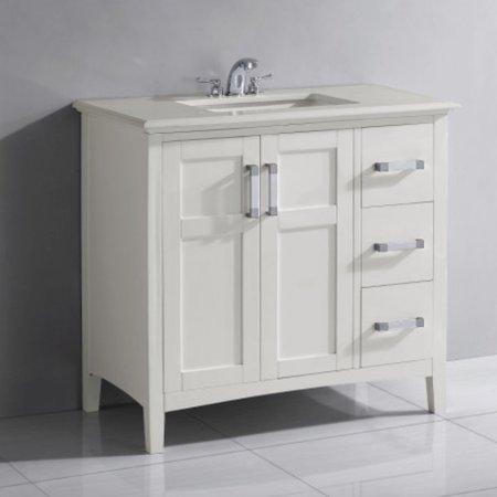 Brooklyn Max Wilshire 36 White Bath Vanity