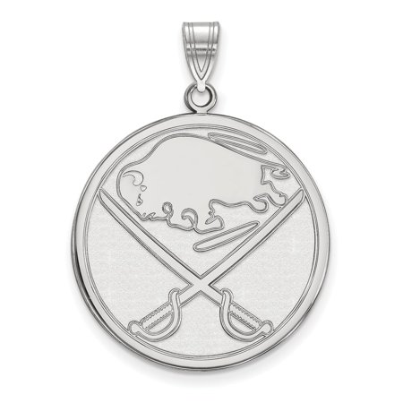 Solid 14k White Gold NHL Buffalo Sabres Extra Large Pendant