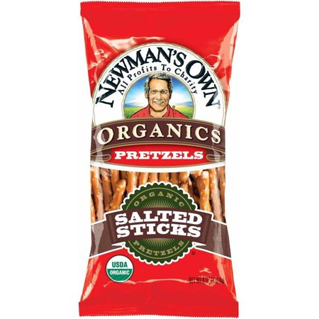 - Newmans Own Organics Salted Pretzel Sticks, 8 Oz (Pack of 12)