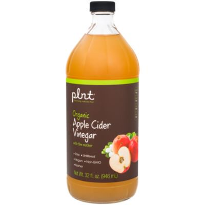 plnt Organic Apple Cider Vinegar with Mother  Supports Digestion, Raw  Unfiltered, NonGMO, Vegan  USDA Certified Organic (32 Fluid Ounces