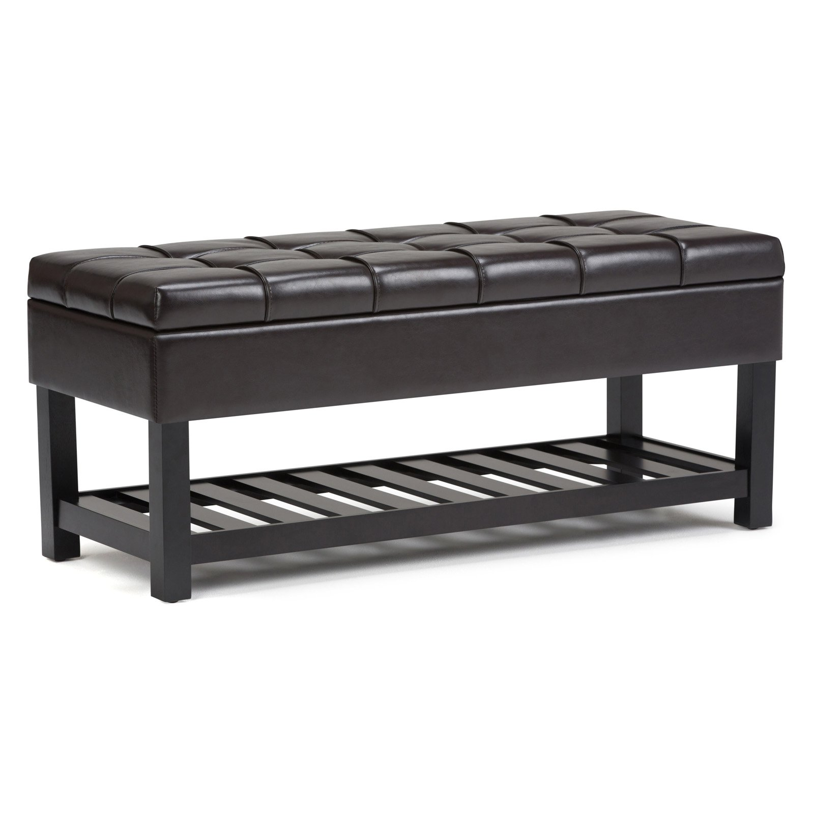 Simpli Home Saxon Storage Ottoman Bench