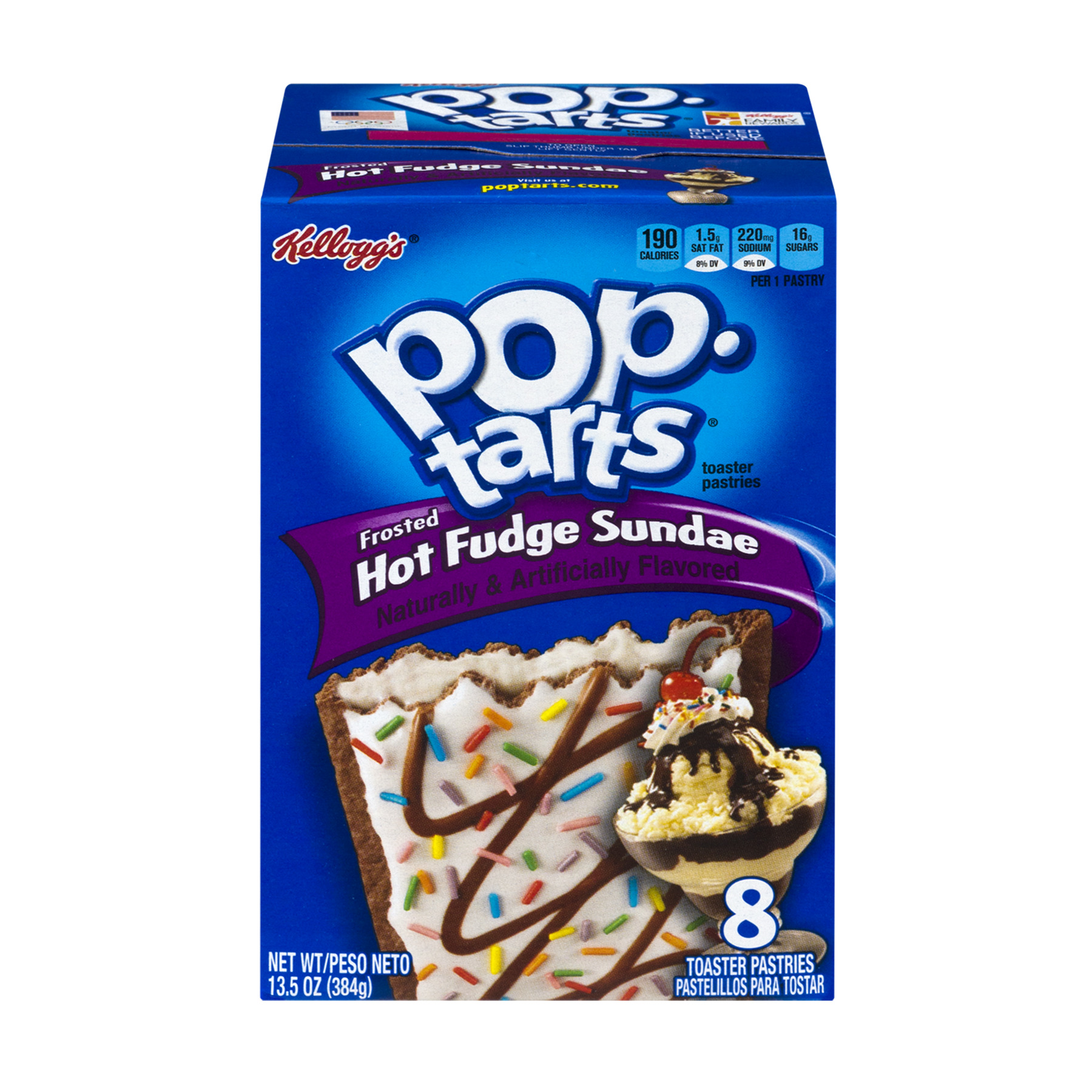 Kellogg's Pop-Tarts Frosted Hot Fudge Sundae, 8 count, 13.5 oz