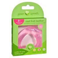 Green Sprouts Cool Soothing Teether Ring - Pink Strawberry