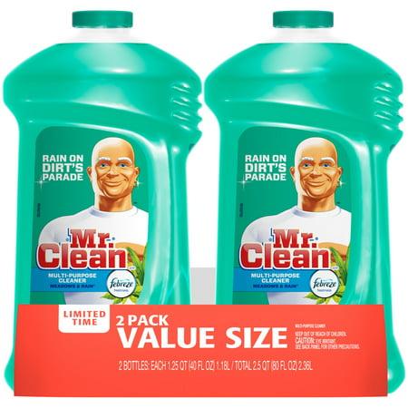 Mr Clean Liquid All-Purpose Cleaner with Febreze Meadows and Rain 40 Oz Twin - Mr Gru