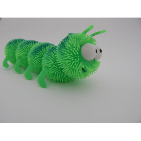 Canvas Print Green Caterpillar Crawl Centipede Toy Worm Stretched Canvas 10 x 14 - Caterpillar Craft
