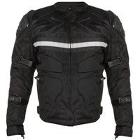Xelement CF751 'Roll Out' Men's Black Tri-Tex Motorcycle Jacket with Level-3 Armor Black