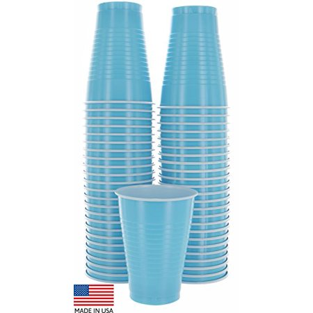 50PK BLK Colored 12-Ounce Disposable Plastic Party Cups-Ideal for Weddings - Colored Plastic Cups