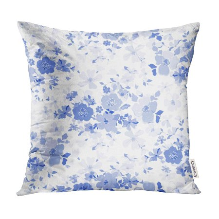 BOSDECO Daisy Blue Flowers Pattern Traditional Floral Cute Ditsy Field Pillow Case Pillow Cover 16x16 inch - image 1 of 1