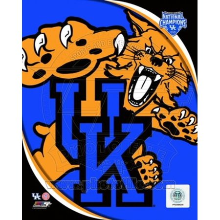 University Of Kentucky Wildcats Team Logo With 2012 Ncaa Mens Basketball National Champions Logo Sports Photo