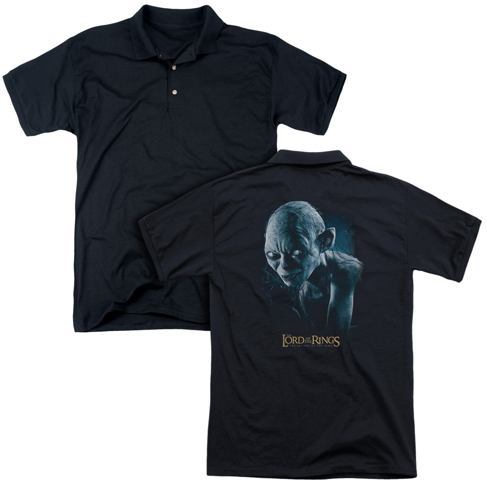 The Lord of The Rings Movie Sneaking Adult Back Print Polo T-Shirt