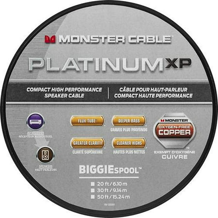 - Monster - Platinum XP Clear Jacket MKIII 20' Compact Speaker Cable - White/Copper