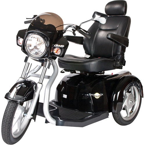 "Drive Medical Maverick Executive Three Wheel Power Scooter, 20"" Seat"