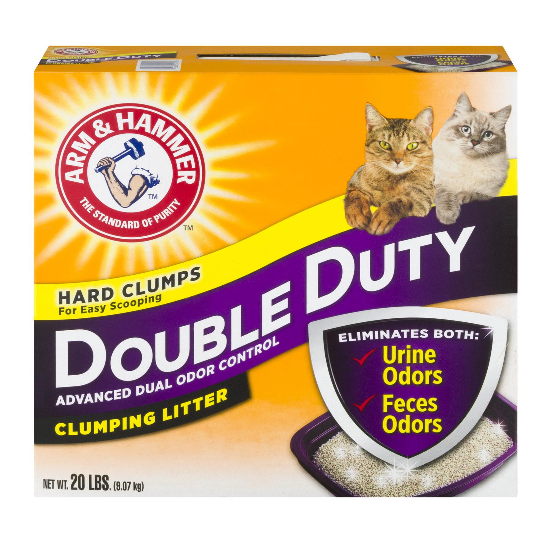 Arm & Hammer Double Duty Clumping Cat Litter, 20-lb