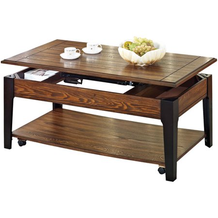 Magus lift top coffee table oak for Coffee tables at walmart