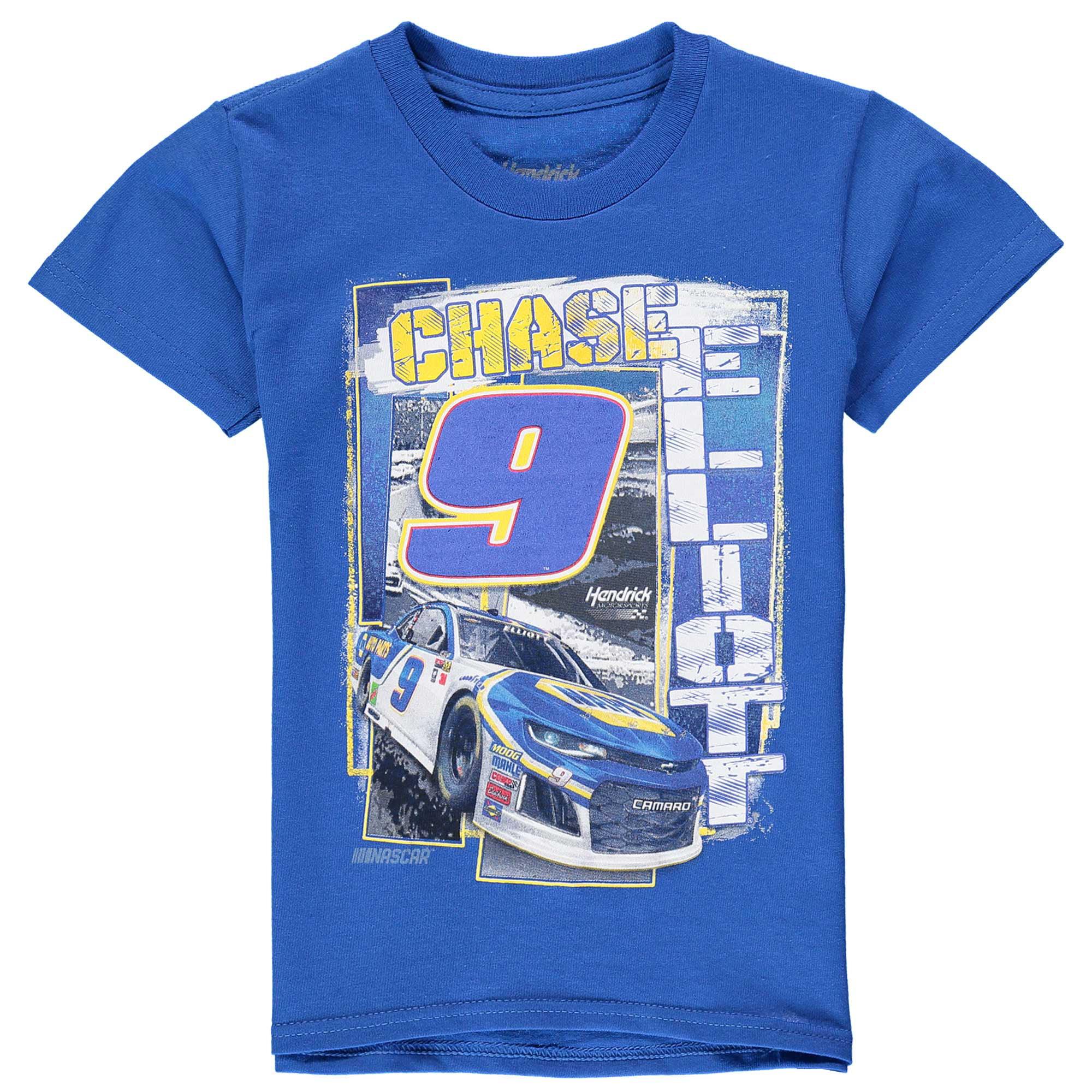 Chase Elliott Checkered Flag Youth Front Runner T-Shirt - Royal