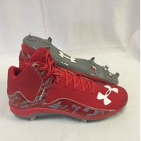ccde321c59bff Product Image NEW Mens Under Armour Team Yard Mid ST Baseball Cleats  Red/Steel/Camo Sz