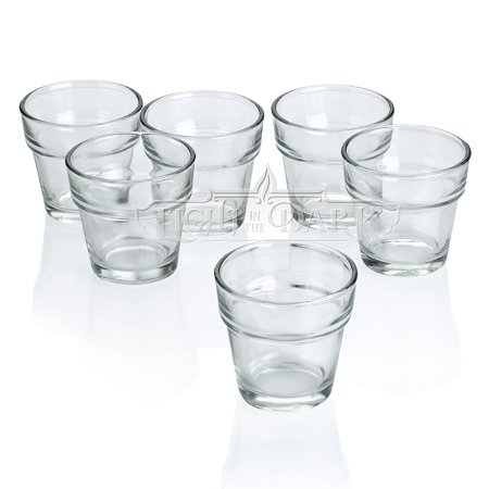 Clear Glass Flower Pot Votive Candle Holders Set of (Votive Pot)