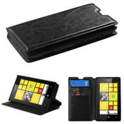 Insten Black MyJacket Wallet Case (with Tray & Package) For NOKIA Lumia 520