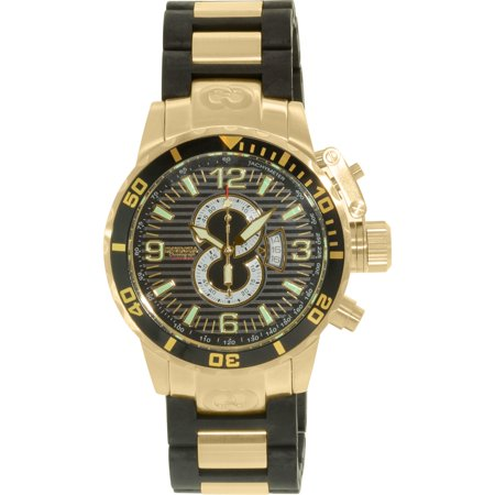 Invicta Men's Corduba/Diver 4900 Black Stainless-Steel Swiss Quartz Dress Watch