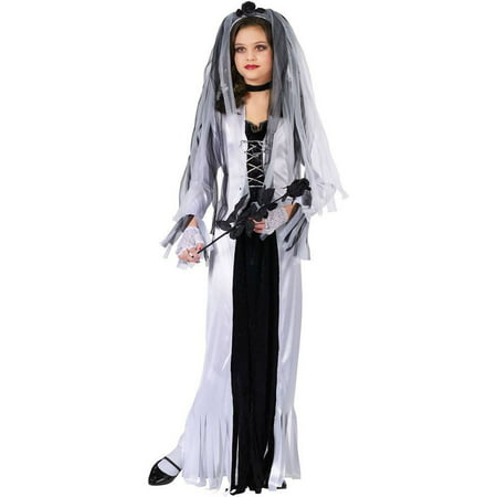 Fun World Skeleton Bride Costume Small 4-6 Multicolor (Large) - Bride Of Chucky Costume Kids