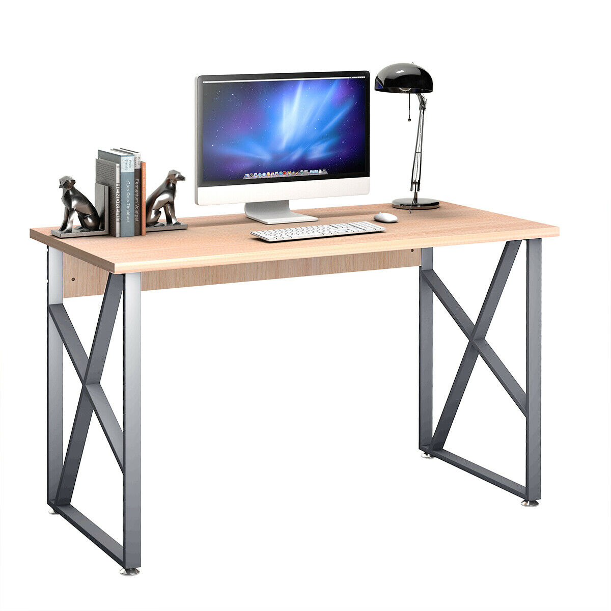 Costway Computer Desk PC Laptop Table Writing Study Workstation Home Office  Furniture   Walmart.com