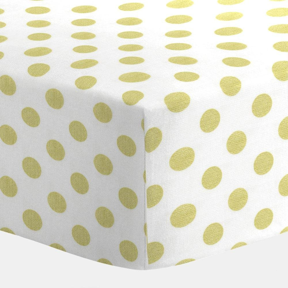 Carousel White and Gold Dot Crib Sheet