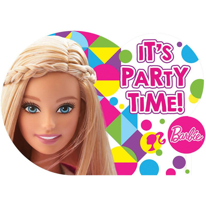 Barbie Sparkle Invitations (8 Pack) - Party Supplies