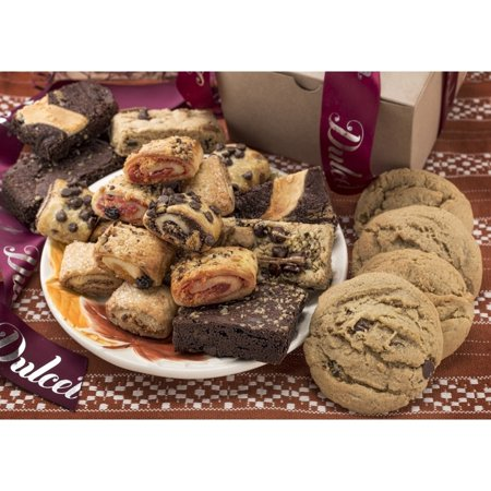 Dulcet Gift Baskets Dulcet's Assorted Kraft Cookies, Brownies and Rugelah Gift Box (Cookie Gift Boxes)