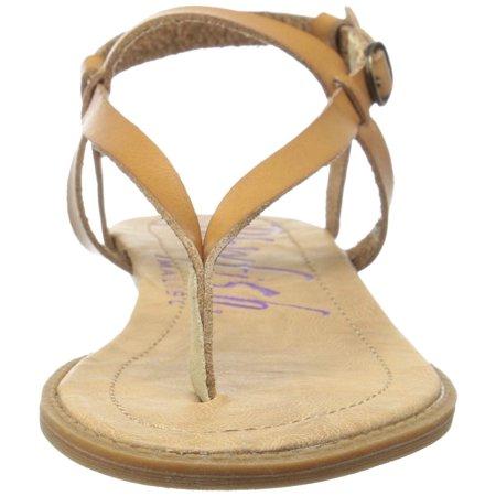Toms Desert Wedges (Blowfish Womens Berg Boho Wedge Sandal (Desert Sand Dyecut PU,)