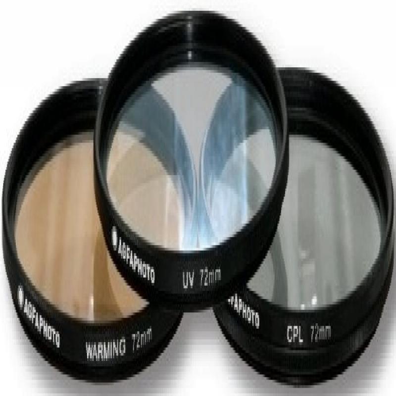 AGFA 3-Piece Professional Filter Kit 72mm Ultraviolet (UV) + Circular Polarizor (CPL) + Warming Intensifier APFTK72 by Agfa