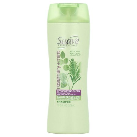 Suave Professionals Shampoo, Rosemary Mint for All Hair Types, 12.6 Ounce Bottle Suave Professionals Rosemary