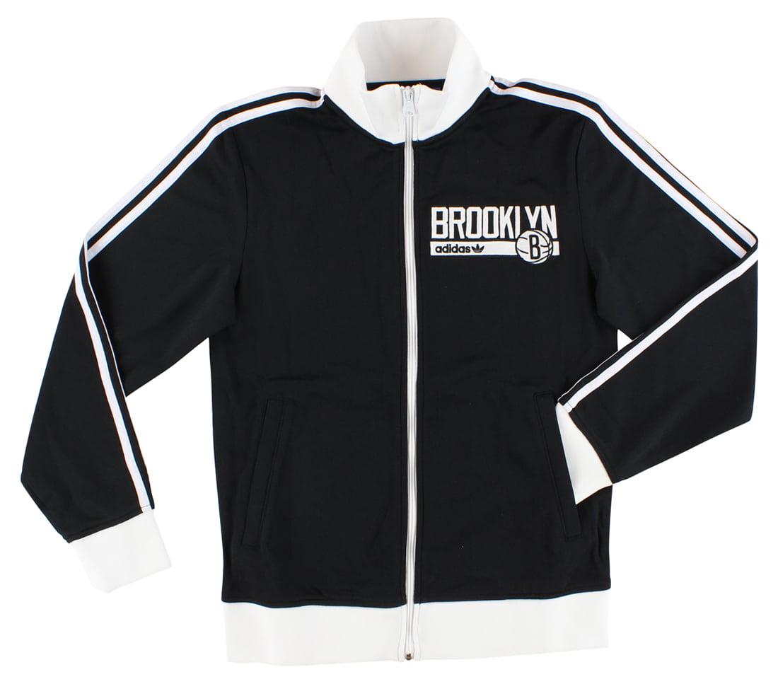 Adidas Mens Brooklyn Nets Track Jacket Black S by Adidas