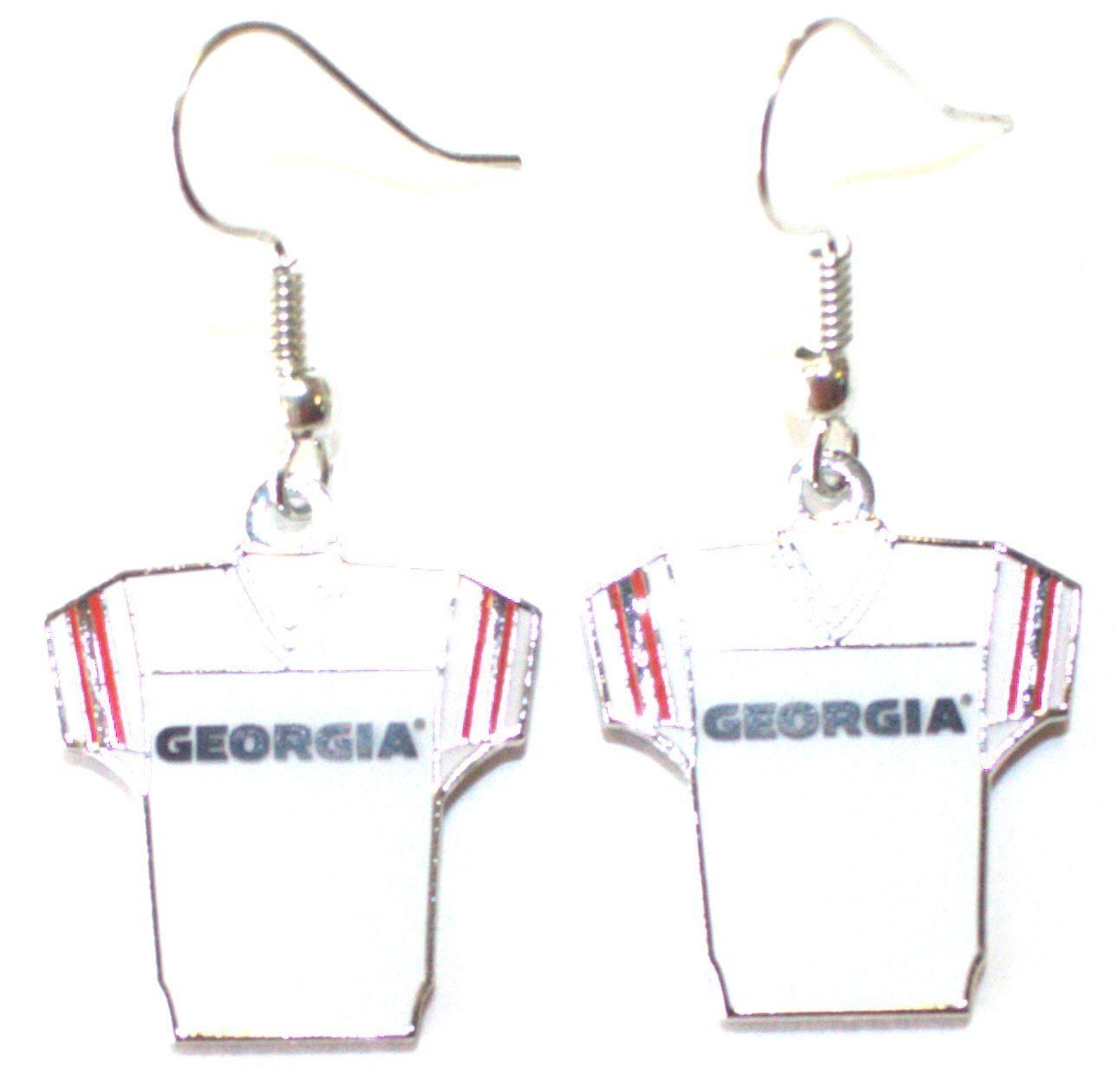 NCAA Officially Licensed Georgia Bulldogs Jersey Style Dangle Earrings