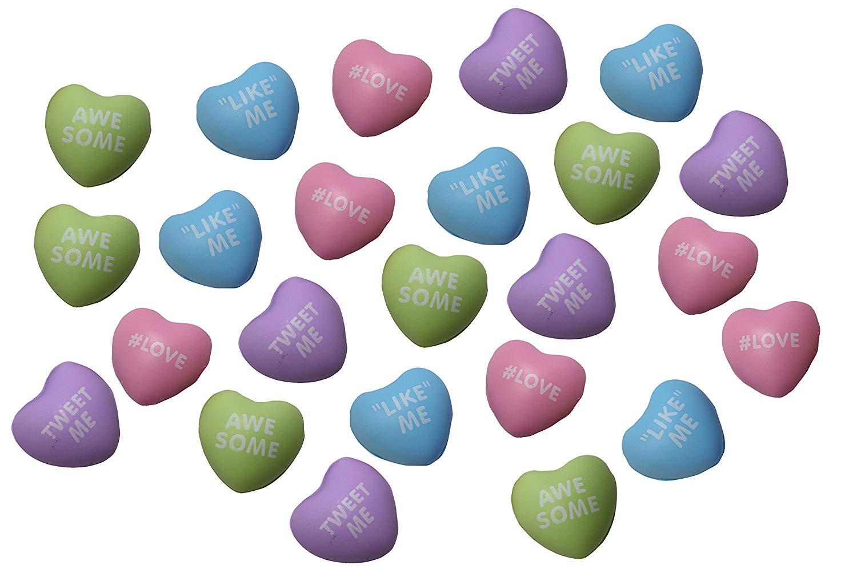 36 Pieces Red Heart Stress Balls Heart Shaped Mini Stress Foam Balls Valentines Day Funny Stress Heart Balls for School Valentine Fun Party Favors