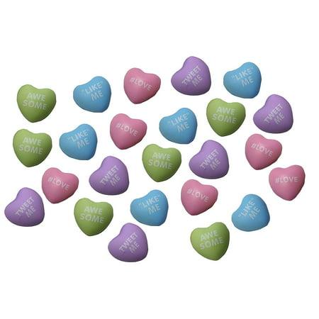 24 Mini Conversation Heart Stress Balls - Unique Valentines Day Cards for Kids - Novelty Party Favor - 2 Dozen Bulk](Bulk Novelties)