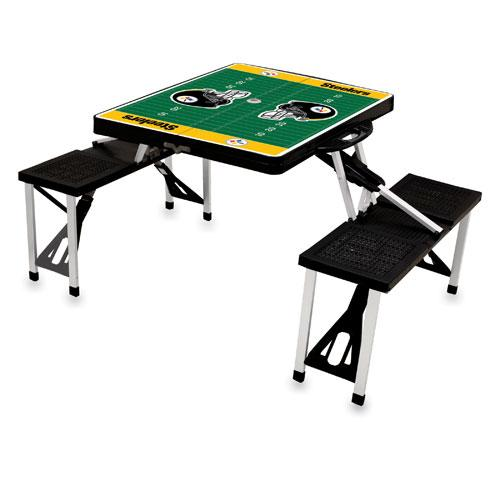 Black NFL Folding Picnic Table Team: Baltimore Ravens