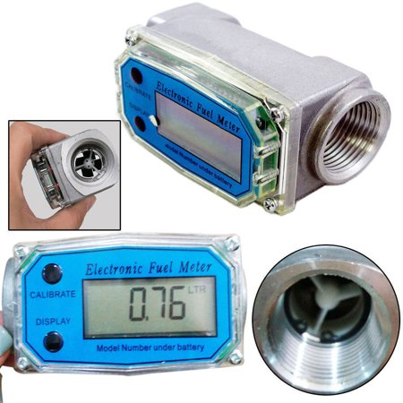 - Turbine Digital Diesel Fuel Flow Meter Oval Gear Flow Gauge BSPT/NPT 1