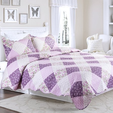 and quilts purple wonderful com likeable bedding coverlets in garden from on quilt daisy home