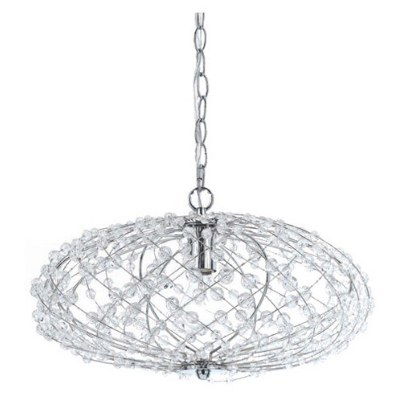AF Lighting 8286-1H Oval Silver Web Pendant