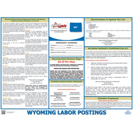 Wyoming State Labor Law Poster