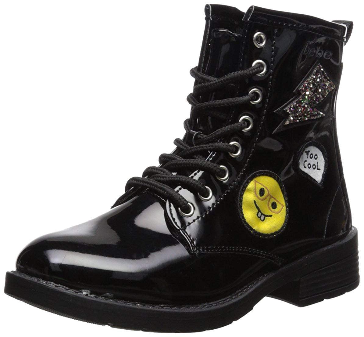 bebe - bebe Girls Patent Combat Boots