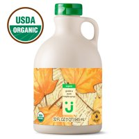 Uniquely J Organic Grade A Pure Maple Syrup, Amber Color, Rich Taste, 32 oz