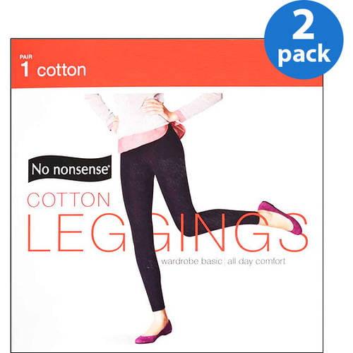 NoNonsense Cotton Leggings, 2pk