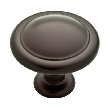 """Franklin Brass 1-1/4"""" Round Ringed Knob in Dark Oil Rubbed Bronze"""