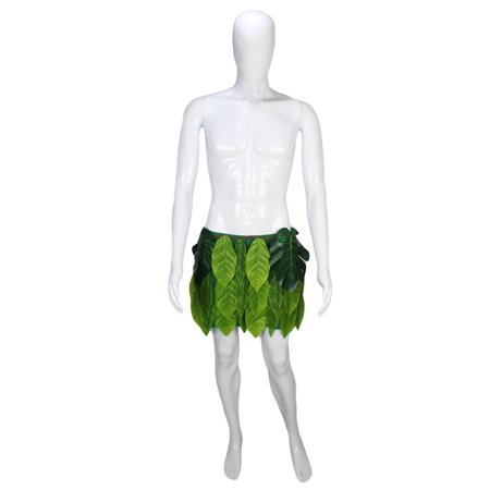Cosplay Men (Moana Maui Tattoo Leaf Hula Skirt Halloween Adult Mens Cosplay Costume Size Samll)